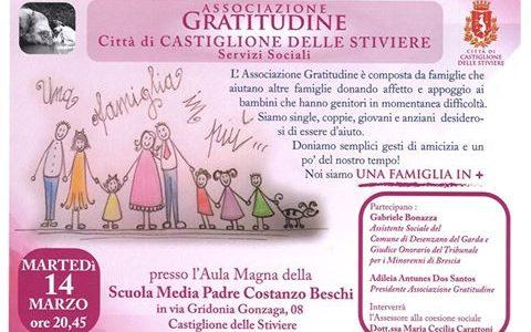 Martedì 14 marzo alle ore 20.45 vi aspettiamo a Castiglione Delle Stiviere
