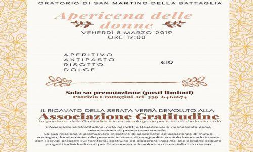 Appuntamento Venerdí 8 marzo 2019 alle ore 19 presso l'oratorio di San Martino della Battaglia